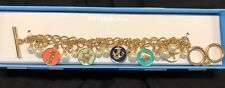 Mythologie Sea Life/Beach Themed Adjustable Gold Tone Charm Bracelet-NIB