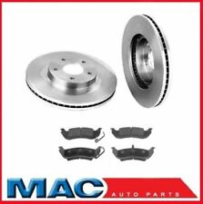 Ford 2x 54105 Rear Disc Brake Rotor & Ceramic Pads