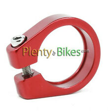 Red Alloy 27.2 Pillar Seatpost Collar Clamp Road Fixie Hybrid Bike Bicycle NEW