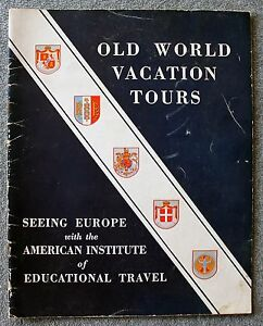 1932 OLD WORLD VACATION TOURS Europe TRAVEL Tourism THOMAS COOK Booklet TOUR