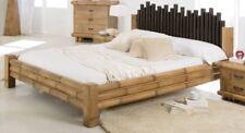 Bambusbett 180x200 Bett aus Bambus Ehebett Holzbett exotische Bambusmöbel