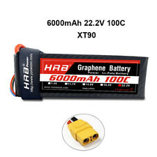 HRB 22.2V 6000mAh Graphene Lipo Battery 6S 100C for RC Airplane Helicopter Truck