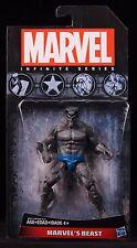 "2015 HASBRO MARVEL UNIVERSE INFINITE SERIES X-MEN BEAST (GREY) 3 3/4"" FIGURE MOC"