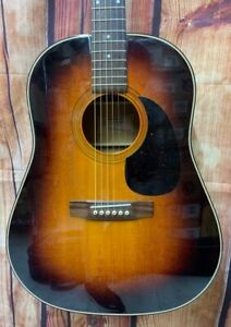 1980s Epiphone PR-650-ASB Acoustic Guitar, Japan, MIJ, J-45 w/ Hard Foam Case
