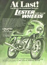 1975 A4 Magazine Advertisement - Lester Cast Alloy Motorcycle Wheels - BMW R90S