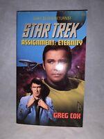 1998 Pocket Books Original Series Star Trek Assignment Eternity Paperback Novel