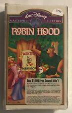 Walt Disney Masterpiece Collection Robin Hood VHS 1189 Movie
