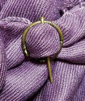 Brooch Pin Celtic Knot Pin Irish Shawl Cloak Pin Scarf Kilt Bronze Viking Pagan