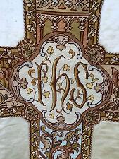 Chape Chasuble Liturgique Broderie Prêtre Aube Ancien 11
