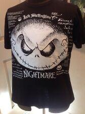 Nightmare Before Christmas Quote Shirt Disney Store Jack Skellington Large