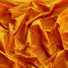 "Iridescent Golden Poppy Dupioni 100% Silk Fabric, 44"" Wide, By The Yard (S-121)"