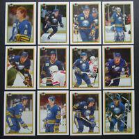 1990-91 Bowman Buffalo Sabres Team Set of 12 Hockey Cards
