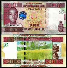 GUINEA 10000 FRANCS 2012 , UNC , P-46 , WM SERIAL