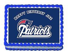 "NFL Patriots team  Edible image Cake topper decoration 7.5:""x10"""