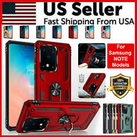 For Samsung Galaxy Note 9 8 10 Plus + Case Shockproof Ring Kickstand Phone Cover