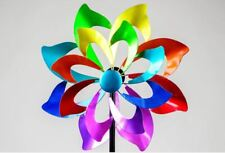571335 Stecker Windrad Multifarben 52/166cm aus Metall farbenfrohe Lackierung