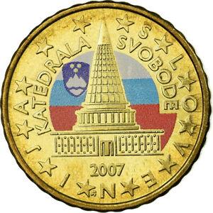 [#755842] Slovénie, 10 Euro Cent, 2007, Colorised, SPL, Laiton, KM:71