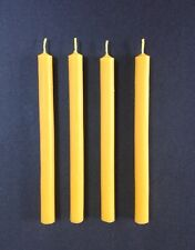 4 x Handmade 100% Pure Beeswax Thin Taper Table Dinner Church Candles 15cmx1cm