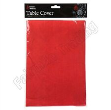 Red Table Cloth Cover Flannel Backed Dining Table Wipe Clean Xmas Decoration
