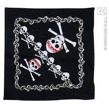 Black Pirate Bandana Squelette Crâne avec détail 55cm X 55cm Hells Angel
