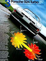 """1980 Porsche 924 Turbo # 3 In Series Original Print Ad 8.5 x 11"""" 1 Page"""