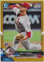 2018 Bowman Chrome Gold Refractor Jack Flaherty RC Rookie Card #/50 Cardinals