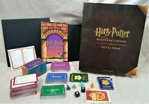 Harry Potter & Sorcerers Stone Trivia Game Pieces-Boards/Cards/Dice/Tokens/Box