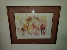 Vic Runnels (1926-2017) Unique Style, Watercolor Artist Signed- Native American