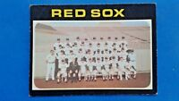 1971 Topps Baseball Card Boston Red Sox Team Picture #386