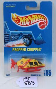 Hot wheels HW Propper Chopper Yellow & Red collector #185 FNQHotwheels FJ583