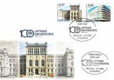 Latvia 2019 (16) University of Latvia - 100 years. Architecture (fdc)