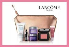 Lancome 2021 7 pc piece Makeup Renergie Blush Gift Set Travel Gold Cosmetic Bag