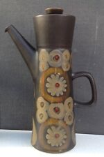 Denby Arabesque large coffee pot designed by Gill Pemberton 1963 very retro
