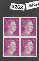 #3263  MNH stamp block of 4 / PF40 Sc520 / WWII Germany Third Reich Adolf Hitler