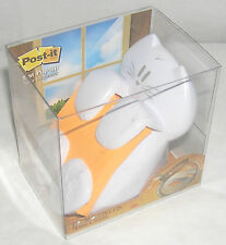 Post It Note Dispenser Kitty Cat White Home School Office