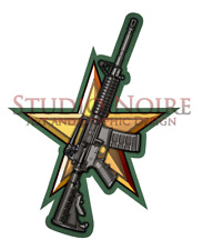 AR M4 Style Rifle Army Modern Warfare Military Rifle Vinyl Decal Sticker