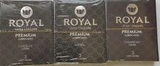 Royal Condoms 9 Piece Sampler Pk  Strawberry Chocolate Natural  Vegan Safe Latex