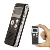 8GB Black Voice Audio Sound Recorder Dictaphone MP3 Player 1160 Hours Recording