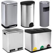 Songmics Waste Bin Dustbin Garbage Rubbish Kitchen Trash Can Stainless Steel