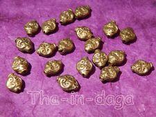 Lot 20 Perles Laiton 0,5cm Bijoux 100% Artisanat Inde Tha-in-daga 14