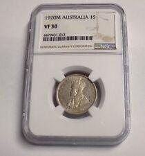1920M AUSTRALIA ONE SHILLING 1S NGC VF30 VF 30 Australian Certified Graded Coin