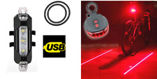 Rechargeable Front & rear laser light set - very bright lamp mountain road bike