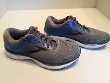 Brooks Adrenaline GTS 18 Mens Gray Blue Running Shoes Size 7.5 D
