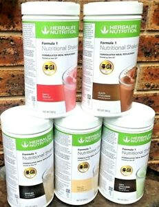 Herbalife Formula 1 Meal Replacement 5 Tubs 560 grams each  Free Express Post