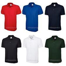 5 x Uneek Olympic Mens Polo Shirt Unisex Work Wear Short Sleeve Plain UC124