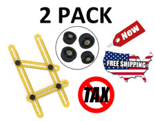 2 PACK Amenitee Universal Angularizer Ruler Multi Angle Measuring Tool Handymen