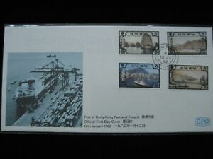 1982 FDC - Port of Hong Kong Past and Present