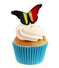 Novelty German Butterfly 12 Edible Stand Up wafer paper cake toppers birthday