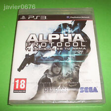 ALPHA PROTOCOL NUEVO Y PRECINTADO PAL ESPAÑA PLAYSTATION 3 PS3