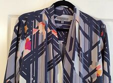 Classifies Entier Women's Plus Size 14W Slik Blend Shirt Blouse Long Sleeves NEW